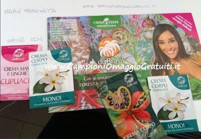 campioni omaggio cosmetici Do Brasil