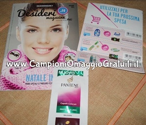 Campioni omaggio e Rivista Desideri Magazine