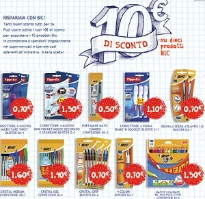 buoni sconto BIC 10 euro