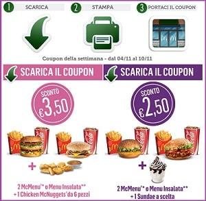 Buoni Sconto McDonalds