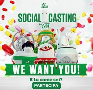 Concorso Tic Tac Social Casting