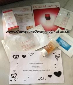 campioncini gratis cosmetici clarins