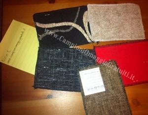 campioni omaggio tessuti divani