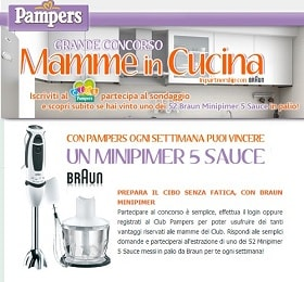 concorso pampers mamme in cucina