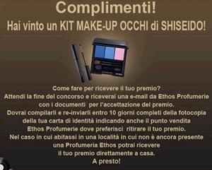 concorso shiseido instant win