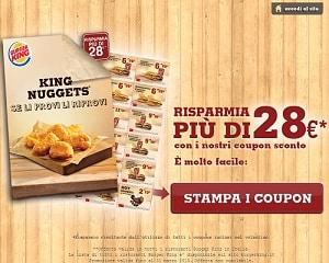 coupon sconto burger king