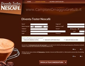 Diventa tester Nescafe