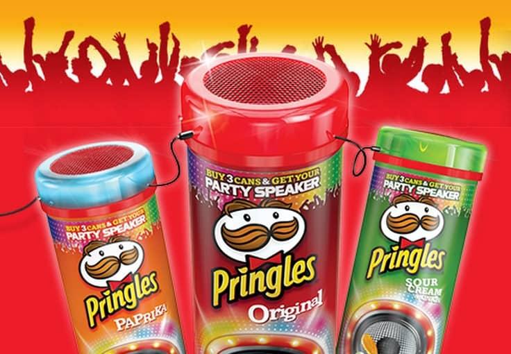 Party speaker in regalo da Pringles
