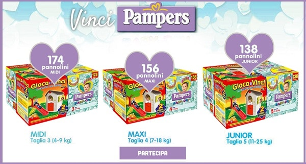 Concorso Pannolini Pampers Baby Dry2