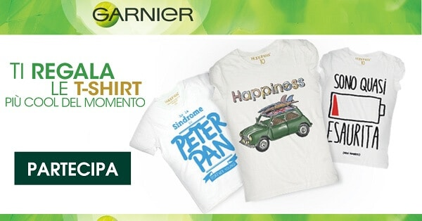 T-Shirt-Happiness-in-Regalo-con-Garnier-Fructis