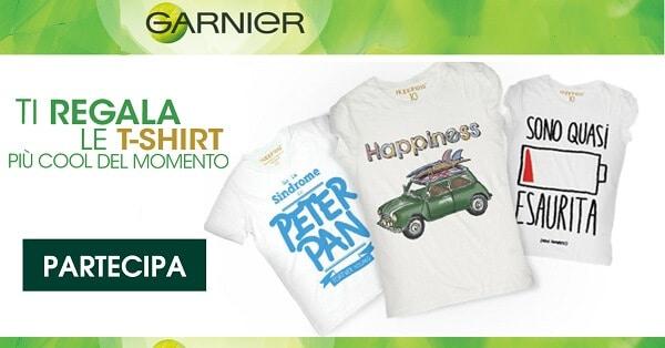 T-Shirt-Happiness-in-Regalo-con-Garnier-Fructis
