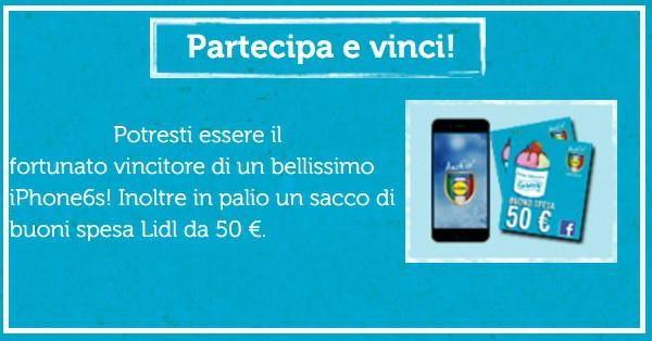 Vinci-iPhone-6s-e-buoni-spesa-Lidl-con-Gelato-FANtastico-gratis