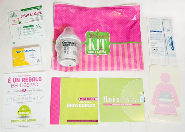 welcome kit dolce attesa