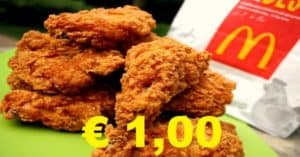 McDonald's Chicken Wings a 1 euro
