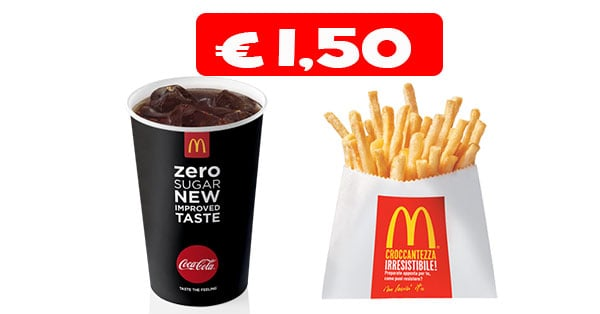McDonald's Bibita e Patatine