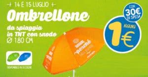 Offerta Ombrellone 1 euro