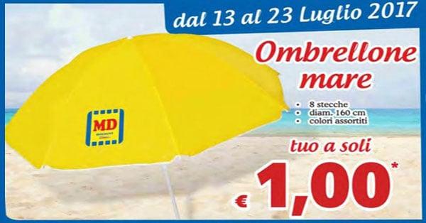 Ombrellone Md Ld a 1 Euro
