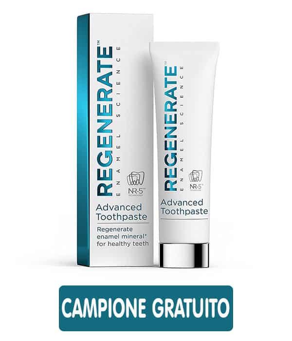 Campioni omaggio del dentifricio Regenerate Enamel Science