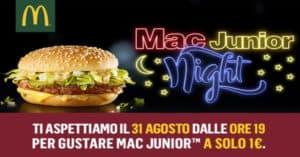 McDonald's Mac Junior Night