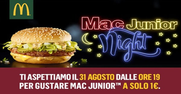 McDonald's Mac Junior Night
