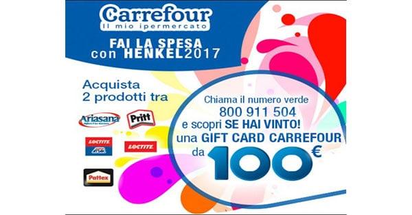 Concorso In Carrefour fai la spesa con Henkel 2017