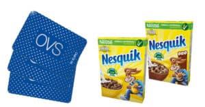 Concorso Nesquik Cereali Vinci Gift Card OVS