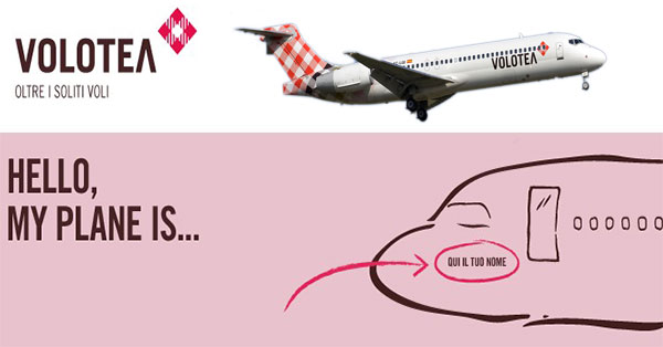 Concorso Volotea Hello My Plane Is