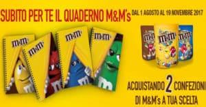 M&M's Promo Quaderni