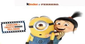 Concorso Al cinema con Kinder e Ferrero