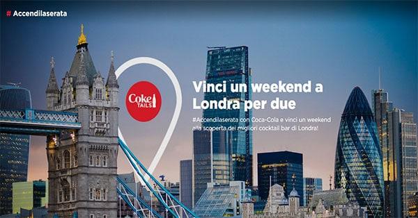 concorso Coca-Cola Accendi la serata e vinci Londra