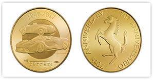 Moneta ufficiale Anniversario Ferrari