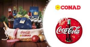 Concorso Vinci un cesto di Natale con Coca-Cola e Conad