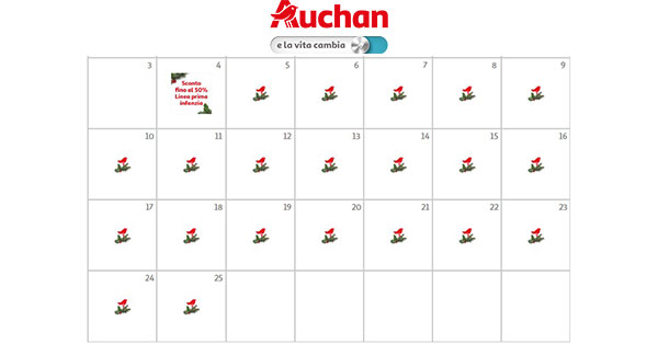 Calendario dell'Avvento Auchan