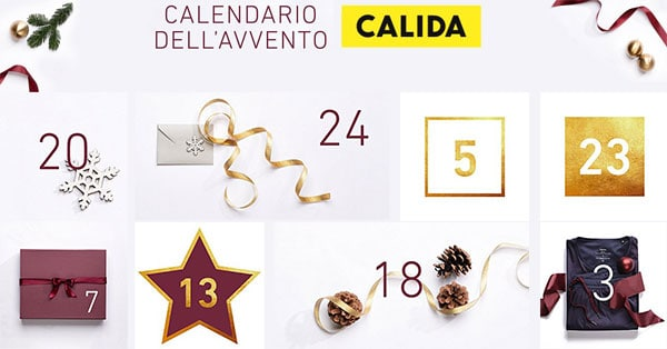 Calendario dell'Avvento Calida