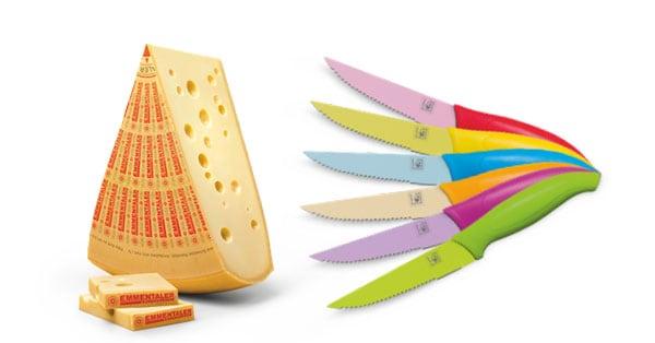 coltelli da cucina omaggio con Emmentaler DOP
