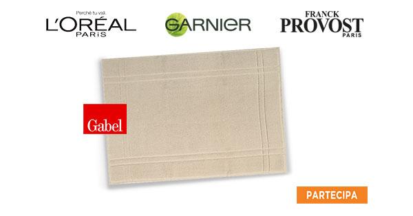 Concorso L'oréal Paris, Garnier e Franck Provost ti regalano un tappeto doccia