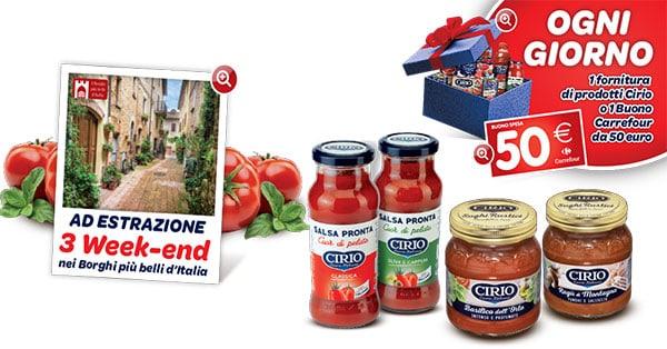 Concorso Vinci Cirio con Carrefour 2017