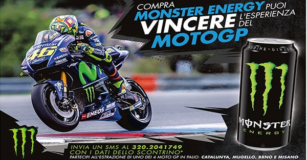 Concorso Con Monster vinci un Vip Pass Moto GP