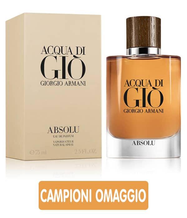 Campioni omaggio Acqua di Giò Absolu Giorgio Armani