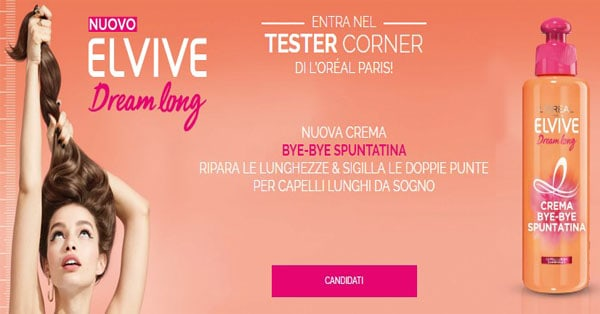 tester Elvive Dream Long Crema Bye Bye Spuntatina