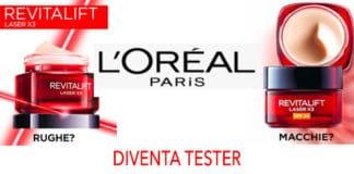 progetto tester revitalift laser x3