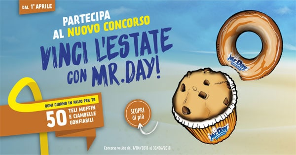 Concorso Vinci l'estate con Mr. Day