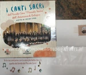 cd i canti sacri ricevuto gratis