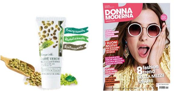 Gel Doccia Caffè Verde Bottega Verde omaggio con Donna Moderna