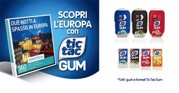 Concorso Scopri l'Europa con Tic Tac Gum