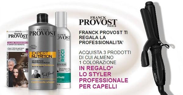 Styler per capelli professionale Franck Provost in omaggio