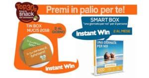 Vinci gratis Tin-Box di frutta secca Nucis e cofanetto Smartbox