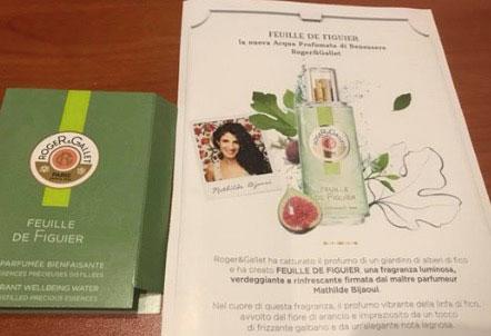 Campioni omaggio profumo Feuille de Figuier