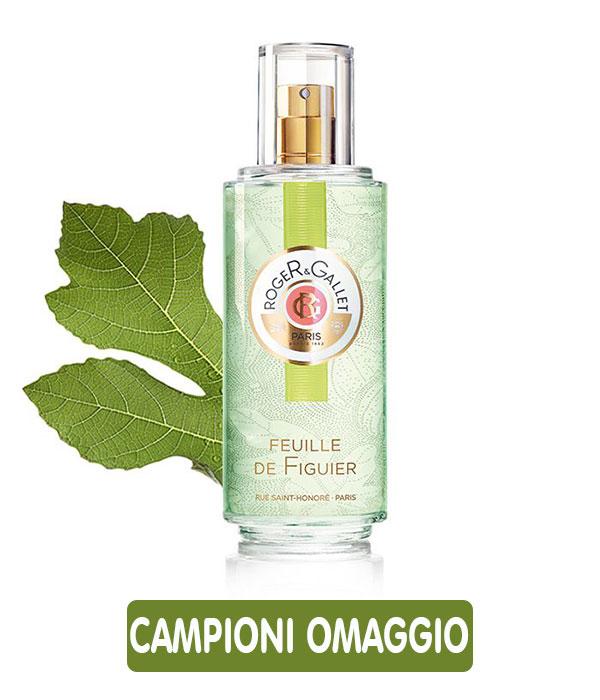Campioni omaggio profumo Feuille de Figuier di Roger & Gallet