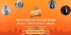 concorso aperol happy togheter live